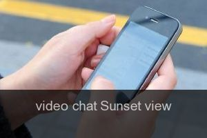 Video chat Sunset view